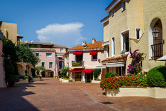 Porto Cervo old town central square Royalty Free Stock Photography