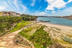 Porto Cervo onder zachte wolken royalty-vrije stock foto