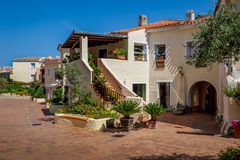 Porto Cervo resort old town houses Stock Image