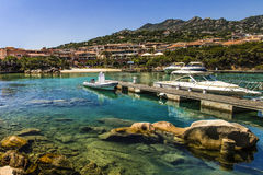 Porto Cervo's little Molo. The little molo located to Porto Cervo, Sardinia, Italy Stock Image