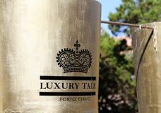 Porto Cervo, Sardinien, Italien - eine Luxusgeschichte in der Küste Porto Cervo Lizenzfreies Stockfoto