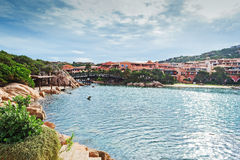 Porto Cervo by the sea Stock Photos
