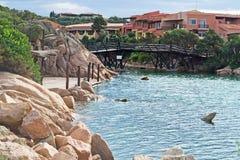 Porto Cervo shoreline Stock Image