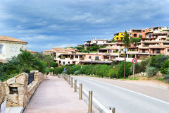 Porto Cervo under a cloudy sky Royalty Free Stock Photos
