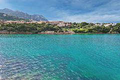 Porto Cervo water. View of Porto Cervo emerald sea Stock Image