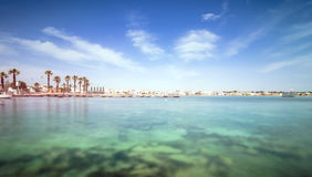 Porto Cesareo kustlinje i den Ionian kusten, Italien Royaltyfri Fotografi