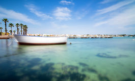 Porto Cesareo kustlinje i den Ionian kusten, Italien Fotografering för Bildbyråer