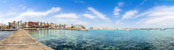 Porto Cesareo linia brzegowa w Ionian wybrzeżu, Włochy obraz royalty free