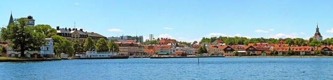 A porto-cidade de Vaestervik Imagens de Stock