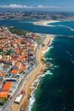 Porto city aerial view stock photo