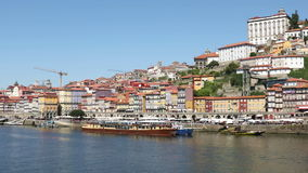 Porto city at clear sunny day stock footage