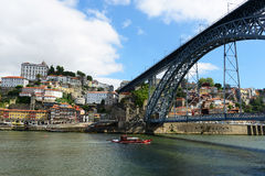 Porto City and Dom Luís Bridge, Portugal Stock Image