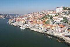 Porto city and Douro river Royalty Free Stock Image