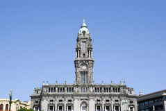 Porto City Hall. The tower of the Porto City Hall, Portugal Royalty Free Stock Photography