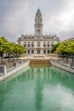Porto City Hall in the Avenida dos Aliados in Porto ,Portugal Royalty Free Stock Photo