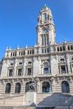 Porto City Hall Facade Stock Photography