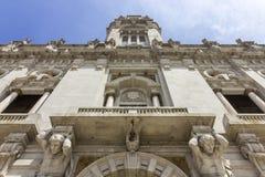 Porto City Hall facade perspective, located at Avenida dos Aliados. Stock Photos