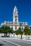 Porto city Hall in Portugal. Porto city Hall and avenida dos aliados, Portugal Royalty Free Stock Photos