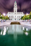 Porto City Hall. Porto, Portugal city hall at night Stock Photos