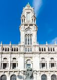 Porto City Hall on a sunny day. stock image