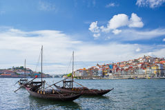 Porto city and river Douro Royalty Free Stock Photography