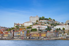 Porto city and river Douro Royalty Free Stock Images