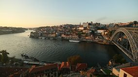 Porto city skyline, Douro river. Portugal. Travel. stock footage