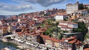 Porto city at sunny summer day. Porto city view at sunny summer day, Portugal. Video shot taken from the Dom Luis I bridge stock footage
