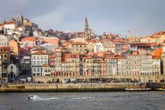 Porto Cityscape on a Cloudy Day stock photo