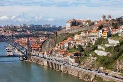 Porto Cityscape i Portugal Fotografering för Bildbyråer