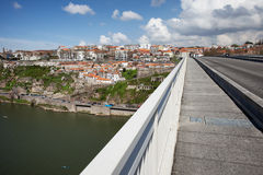 Porto Cityscape from Infante Bridge Stock Image