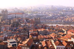 Porto Cityscape in morning beams of the sun Stock Photo