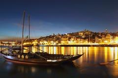 Porto cityscape at night Stock Photo