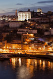 Porto Cityscape at Night in Portugal Royalty Free Stock Photo