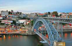 Porto cityscape on sunset Stock Photography