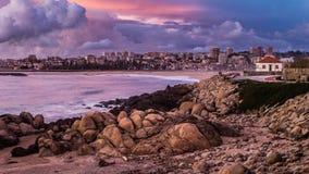 Porto Cityscape van het Strand stock foto