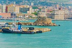 Porto in Civitavecchia, Italia Immagine Stock Libera da Diritti