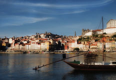 Porto classic sunset view. Stock Photos