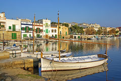 Porto Colom. Picturesque fishermen village in Porto Colom (Majorca - Balearic Islands - Spain Stock Image