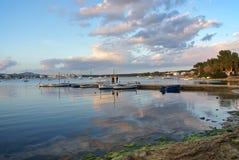 Porto Colom Bay. At sunset in Majorca (Balearic Islands Royalty Free Stock Photo