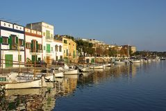 Porto Colom Boats Royalty Free Stock Images