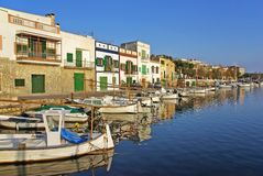 Porto Colom Boats Stock Images