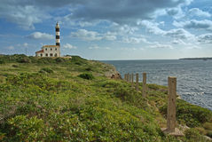 Porto Colom Lighthouse. In the east side of the island of Mallorca (Spain Stock Images