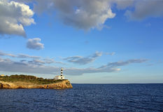 Porto Colom Lighthouse in Majorca Royalty Free Stock Photography