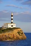 Porto Colom Lighthouse Stock Images