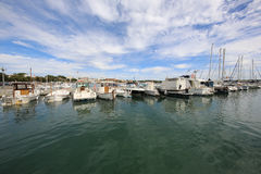 Porto Colom. Majorca. Boats on Harbor in Porto Colom. Porto Colom is a small town on the eastside of Majorca. It has a large natural Harbor. Spain Royalty Free Stock Photography