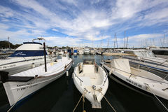 Porto Colom. Majorca. Boats on Harbor in Porto Colom. Porto Colom is a small town on the eastside of Majorca. It has a large natural Harbor. Spain Royalty Free Stock Photos