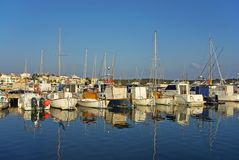 Porto Colom pier Stock Photography