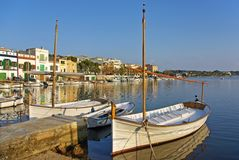Porto Colom Pier Royalty Free Stock Image