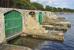 Porto Colom Shelters Stock Photo